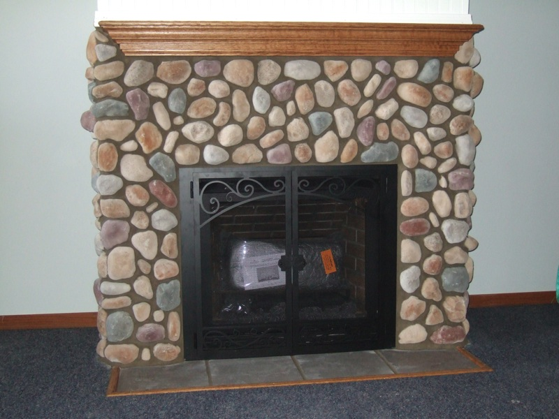 How To Install Fireplace Doors On Stone Fireplace Ideas