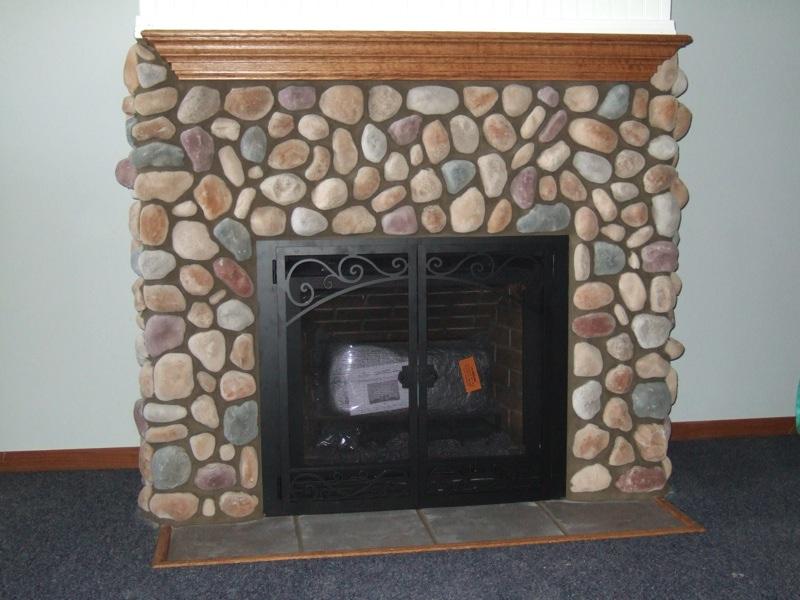 Installing Fireplace Doors On Stone Fireplace Ideas