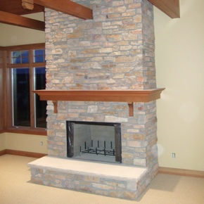 stone fireplaces with wood mantels. Fireplace with stone Fireplaces  Masonry and Exterior Remodeling for Traverse City